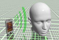Ondes téléphone portable contre la tête
