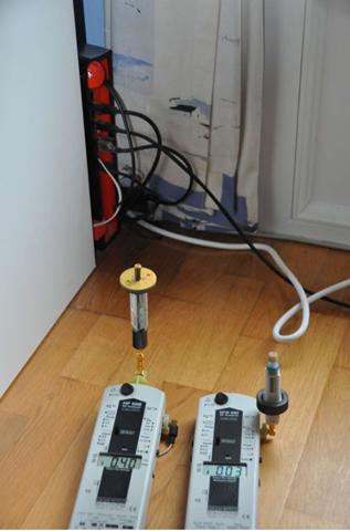Bilan : photo des mesures des champs électromagnétiques de la FreeBox