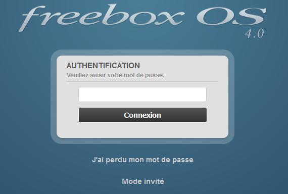 Procédure pour supprimer les émissions d'ondes de la FreeBox révolution : FreeBox connexion mot de passe