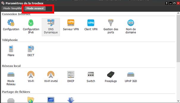 Procédure pour supprimer les émissions d'ondes de la FreeBox révolution : FreeBox paramètres interface